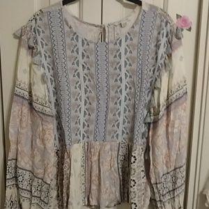 American eagle, boho, gypsy type of  blouse.